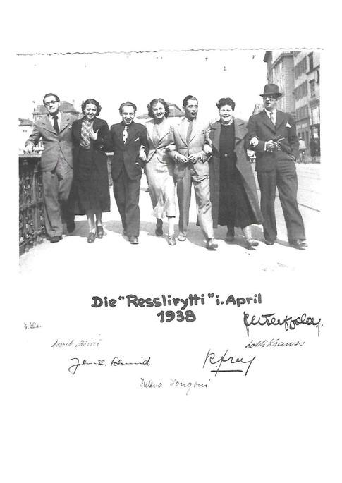 1938 Resslirytti-Gruppenfoto vom Ensemble