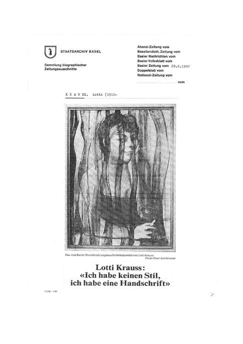 1982 BAZ Einzelausstellung