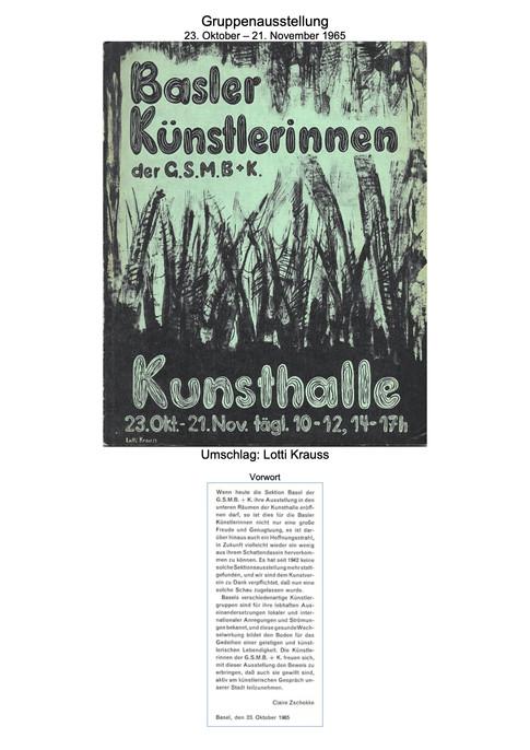 1965 G.S.M.B.K. Gruppenausstellung 1