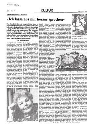 1983 BW Ich lasse aus mir heraus sprechen - Text von Bruno Gasser