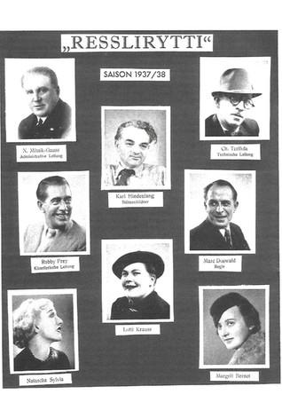 1937 Resslirytti-Fotos vom Ensemble 1937-38