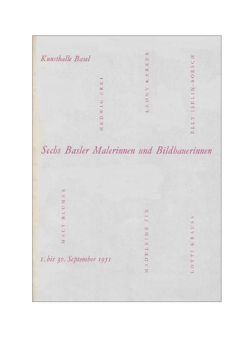1951 Gruppenausstellung Katalog