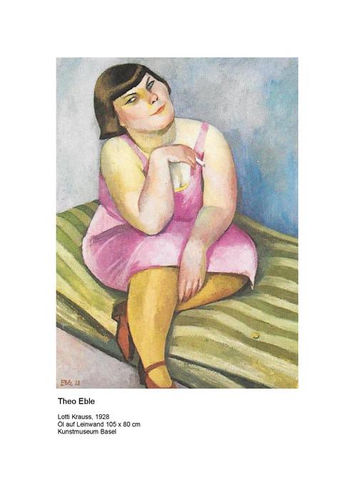 1928 Gemälde von Theo Eble mit Lotti Krauss