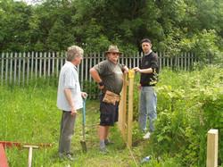 Ossies Working on the Wild Garden