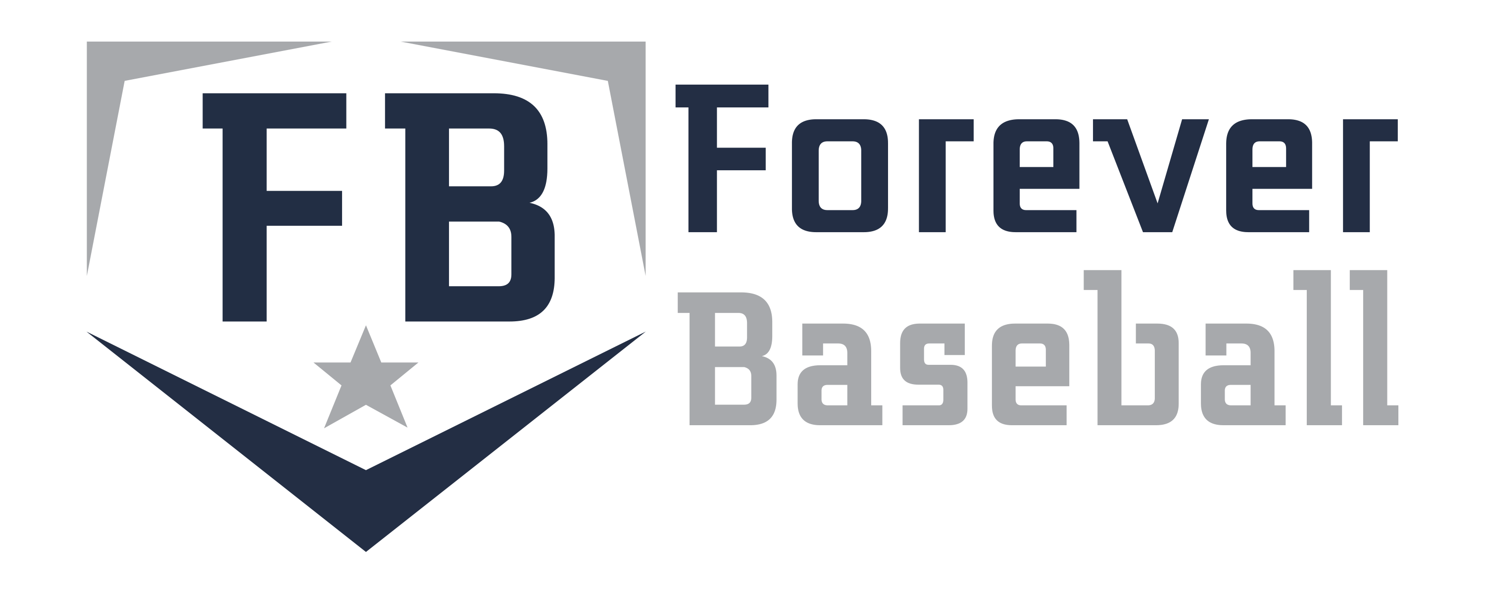 Forever Baseball _logo with words_2 color_clear background