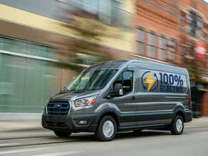 Ford reveals E-Transit electric vans for $45,000, ready to scale up.