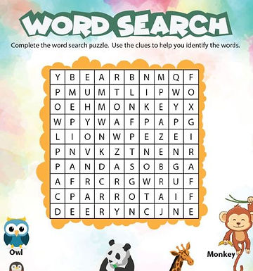 Word Search L1-1