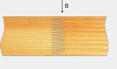 Способы укладки брусков в клееной ламели