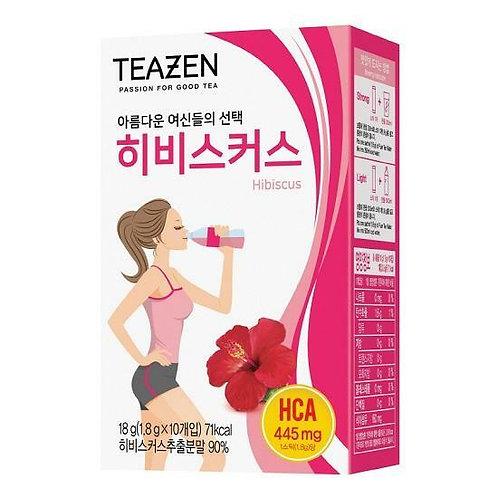 [Teazen] 瘦身輔助茶- 洛神花茶 0糖 Hibiscus Water Mix 10 Sticks