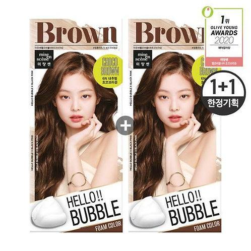 [BLACKPINK x Mise-en-scene ]Hello Hello Bubble 6N Chocolate Brown
