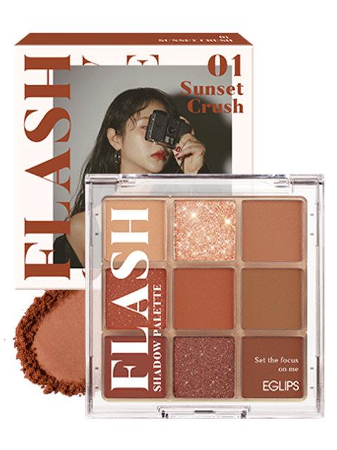 [Eglips~28/3] Flash Shadow Palette 01  Sunset Crush+Mascara