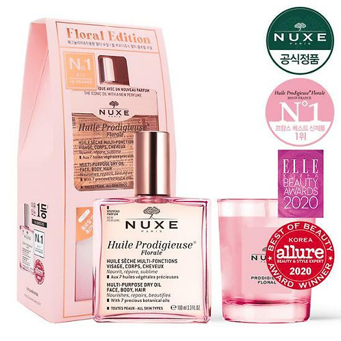 [NUXE] Huile Prodigieuse Multi Floral Oil 100ml Special Set (Candle Gift)