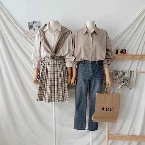 Cotton Shirt Bl 韓國悠閑恤衫- 10 colors