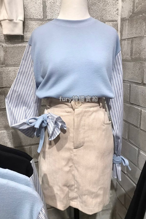 Ribbon Knit Top in Stripe