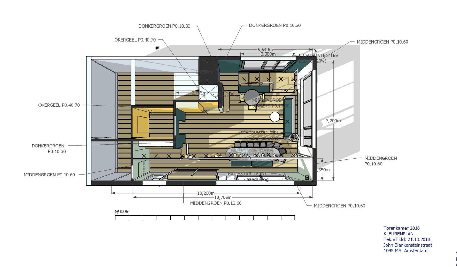 Ontwerp Torenkamer Amsterdam semi publieke ruimte