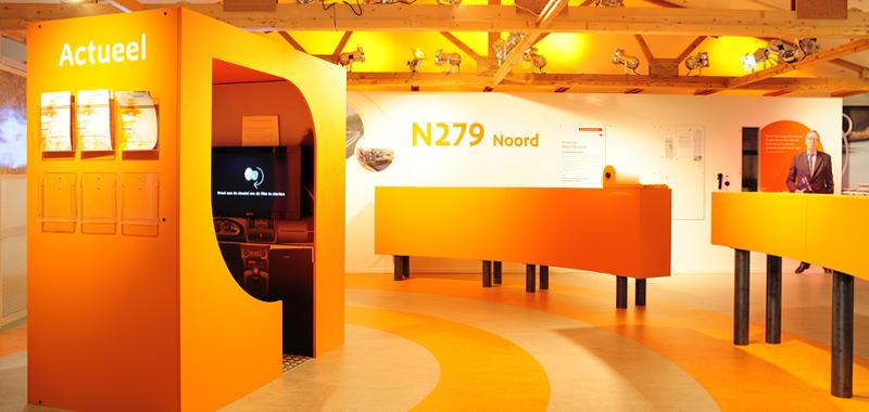 INFORMATIECENTRUM N279 Rosmalen Rijkswaterstaat, concept, ontwerp en uitvoering