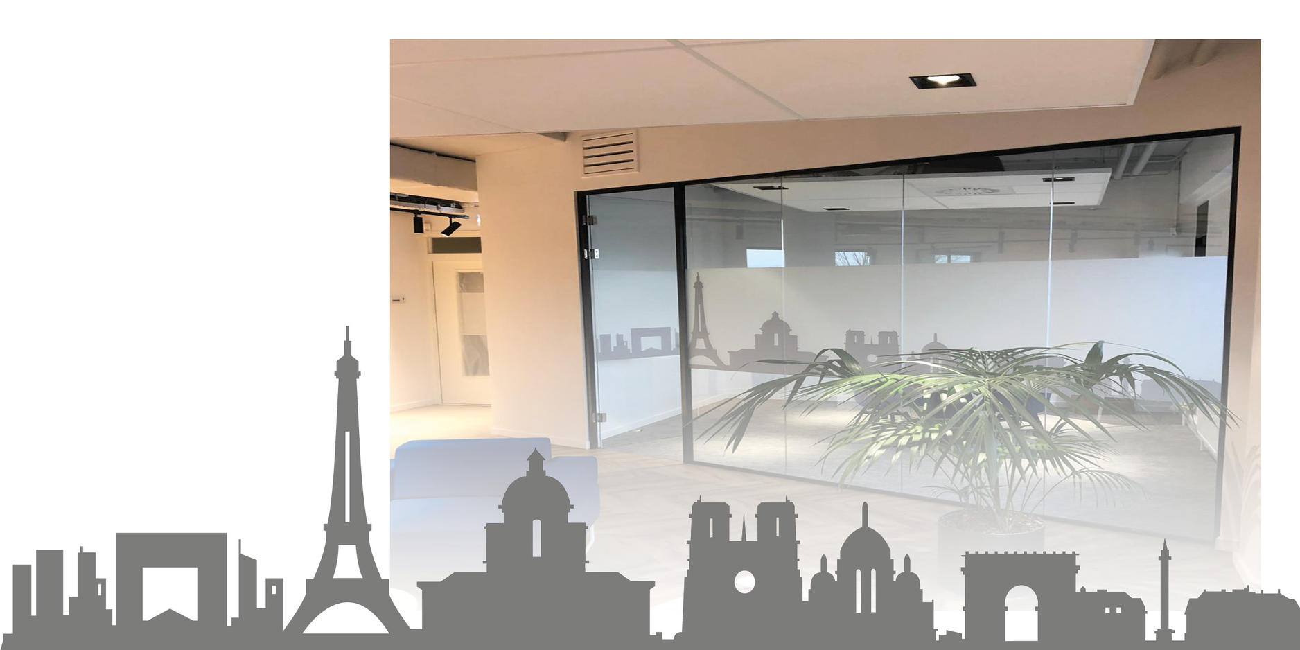 IRM INTERIEUR MET GLASWAND PARIJS