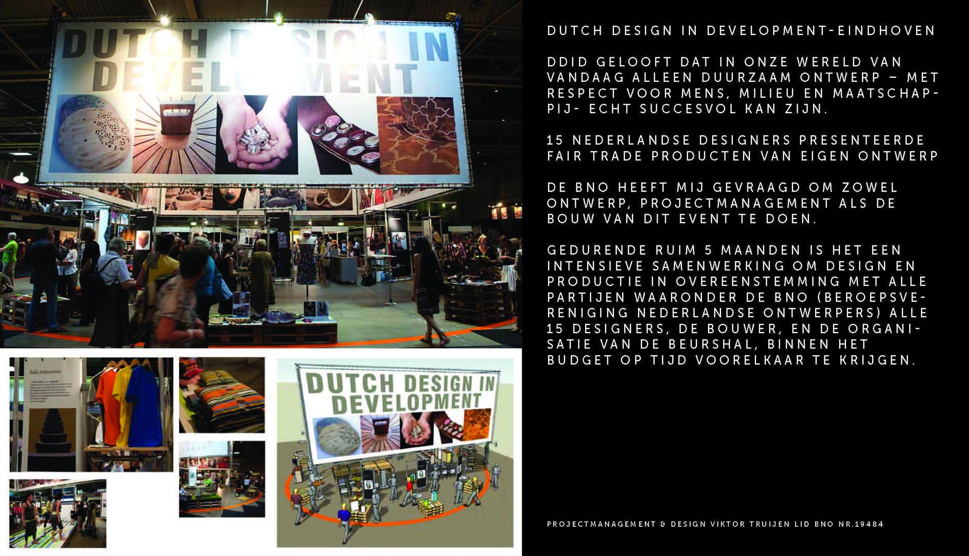 Beursstand BNO Dutch Design In Development