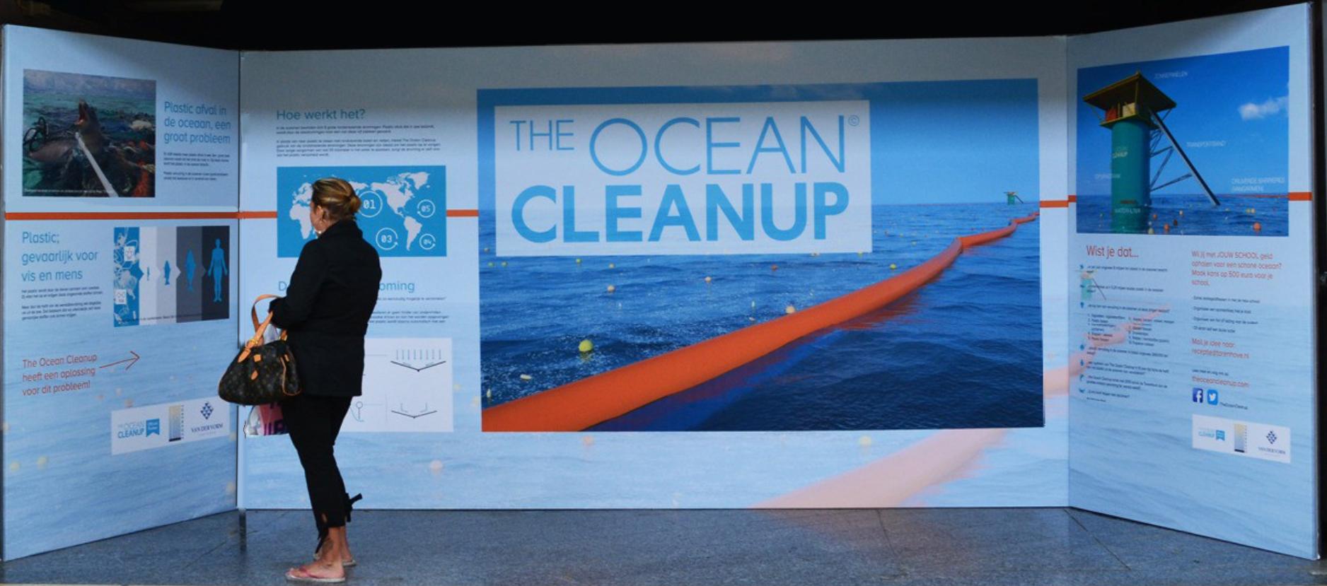 THE OCEAN CLEANUP TIJDELIJKE EXPO CONCEPT ONTWERP EN UITVOERING