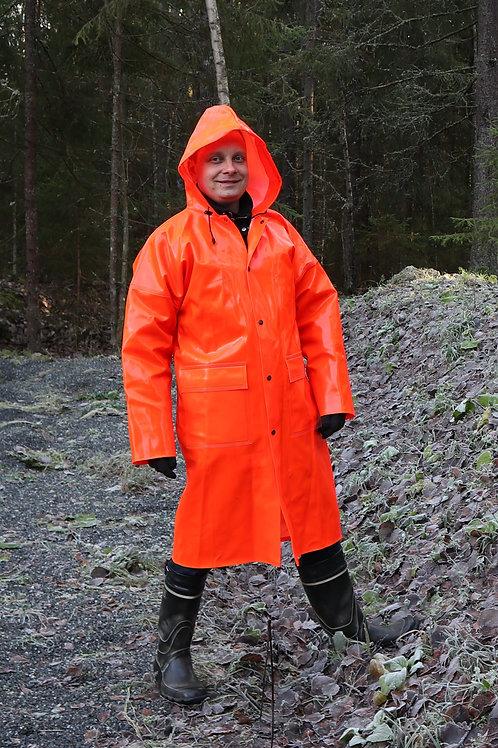 FL-Orange Extreme Long Coat with Pockets L/54-2XL/58