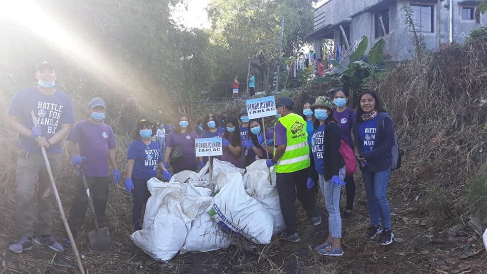"""DENR Tarlac goes to Sta. Ana, Pampanga to support the raging """"Battle for Manila Bay""""."""