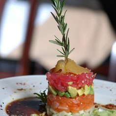 Tuna Avocado Salmon Tower