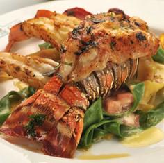 Lobster & Shrimp over Pappardelle