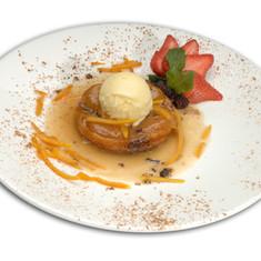 Apple Croquette with Vanilla Ice Cream