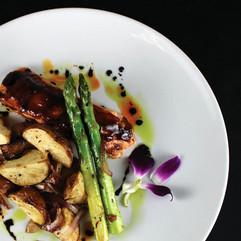 Wild Alaskan Salmon, Roasted Potatoes and Asparagus