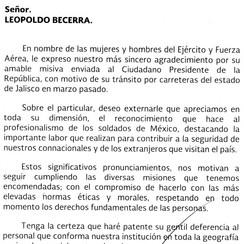 05/13/16 Mexican Secretary of National Defense
