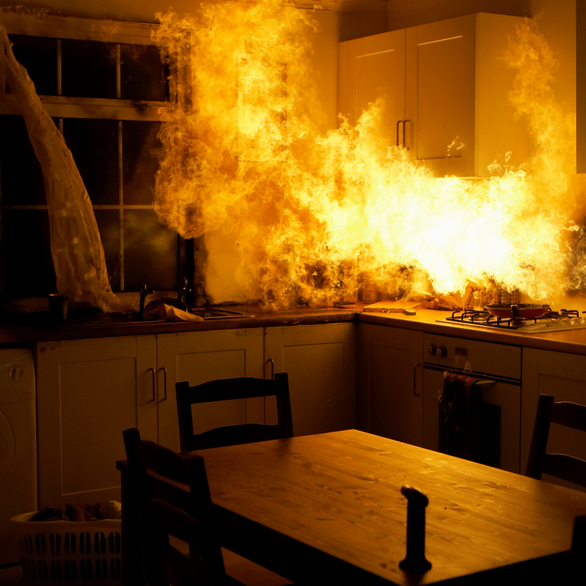stovetop fire