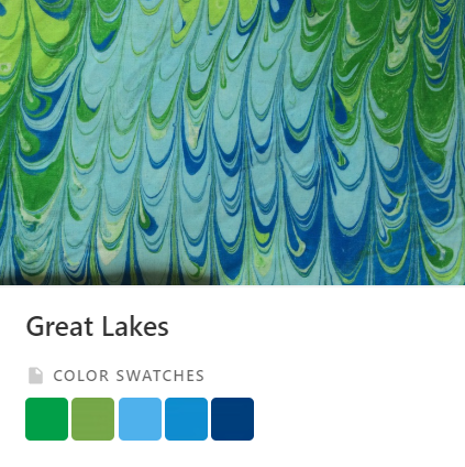 Great Lakes Color Palette