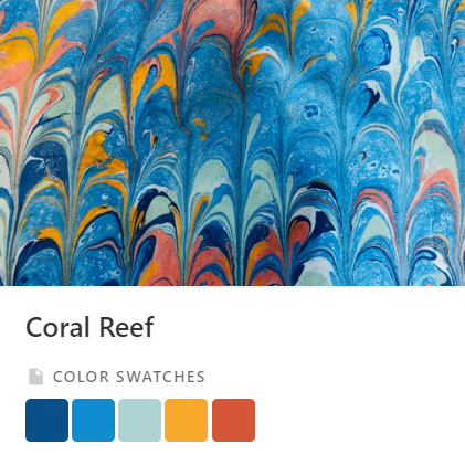 Coral Reef Color Palette