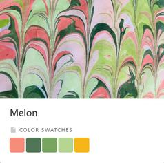 Melon Color Palette