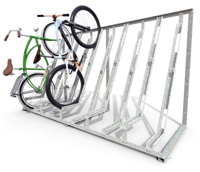 Cityplus-semi vertical bicycle rack