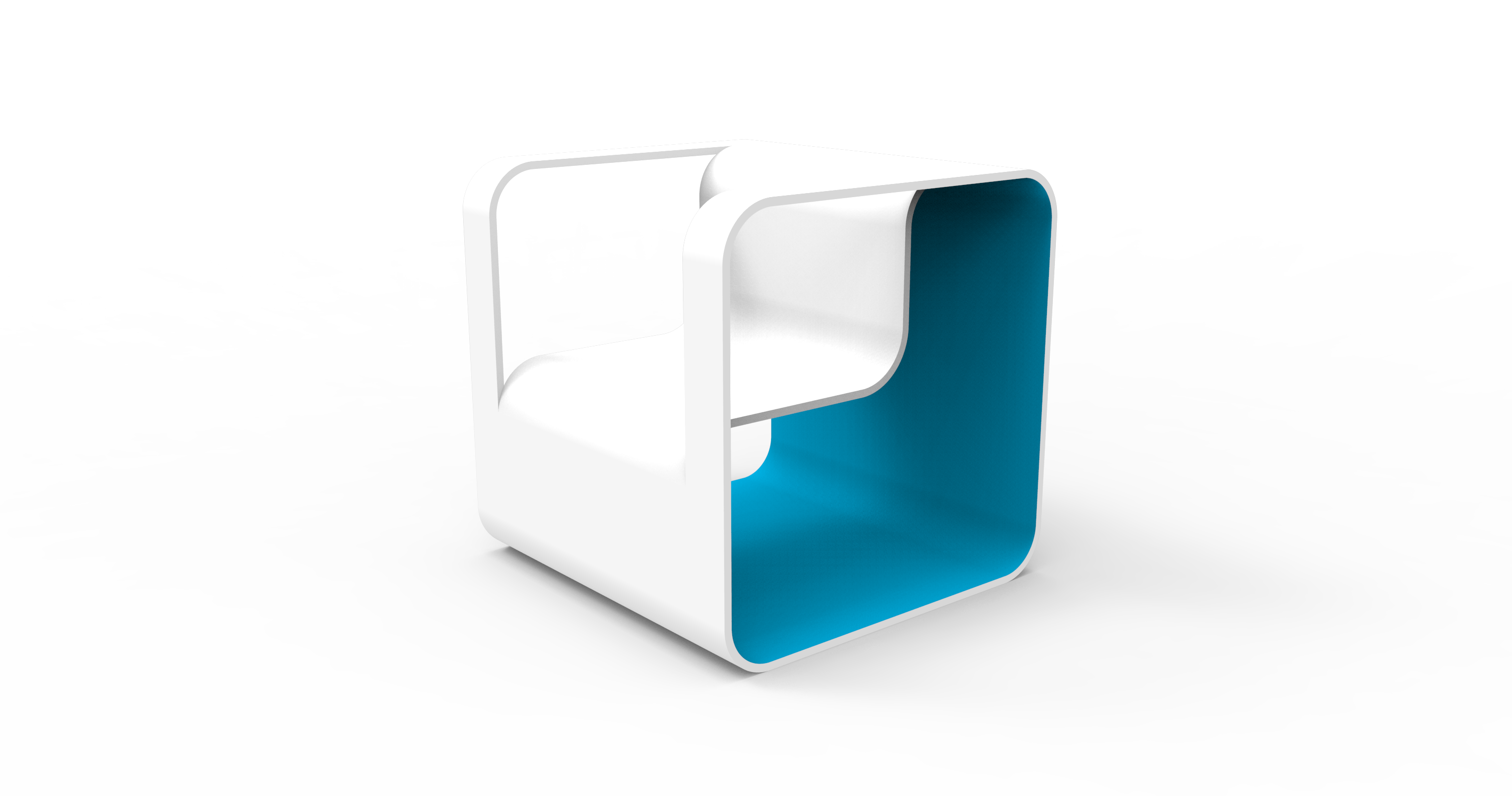 Square Color Chair - 1 seat
