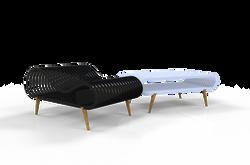 Cloud Shape Chair with bike rack