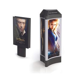 Advertising panel lightbox