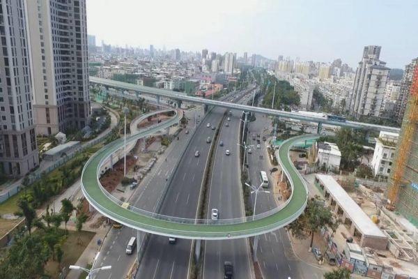 世界最長空中單車道 廈門開通啟用