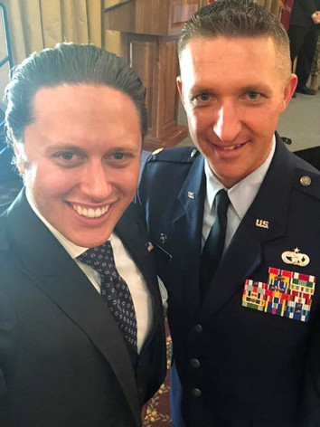 With Colonel Mark Heil (USAF) at Honorary Commander Ceremony