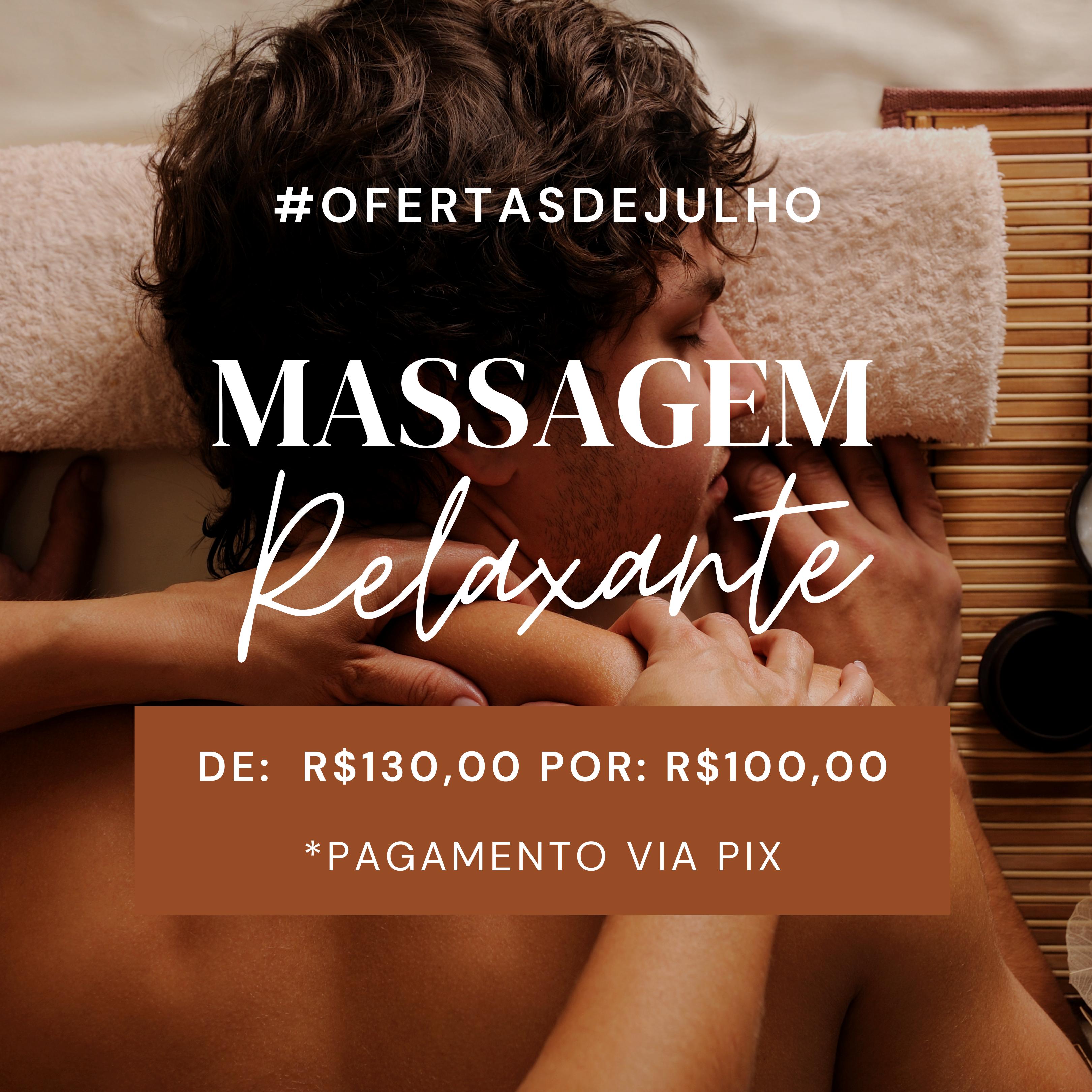Massagem Relaxante, Valor Promocional!!