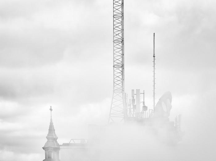 Fog above the city