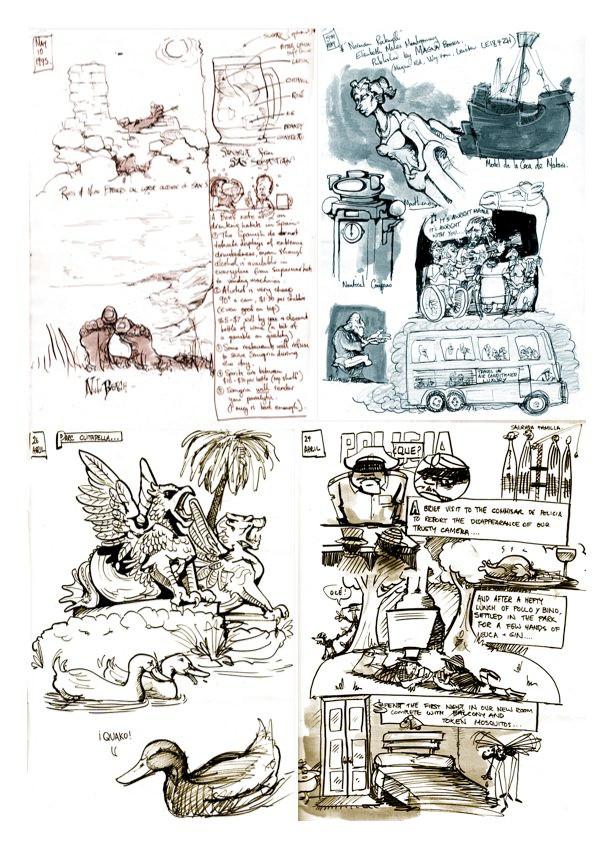 Spain Sketchbook 1996 - Art by OZ