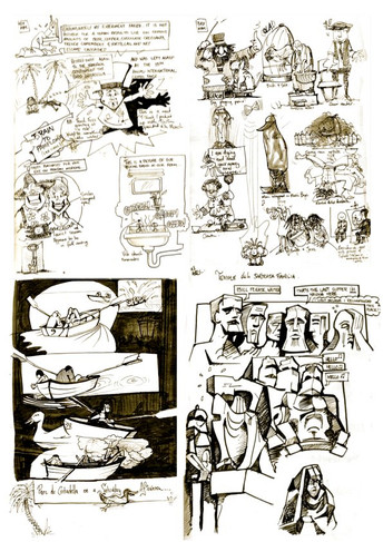 Barcelona, Spain Sketchbook 1996- Art by OZ