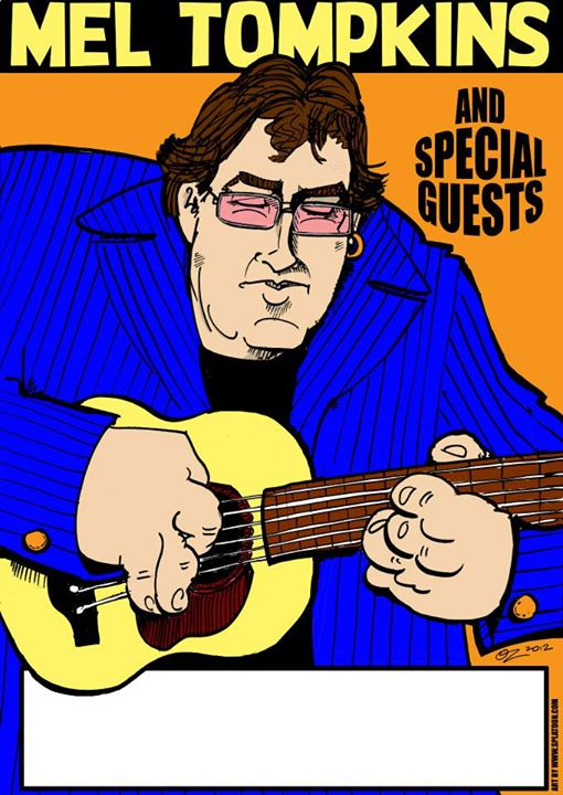 Facebook - Mel Tompkins poster art by SPLAToons - Cartoon Shop at Beechworth