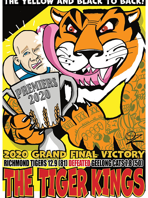 2020 Richmond Tigers Grand Final Victory poster by OZ