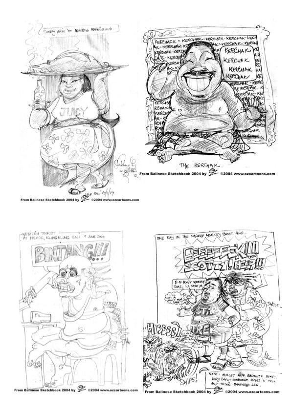 Bali SketchBook 2005 - Art by OZ