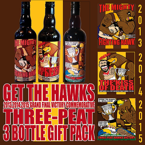 THE HAWKS 3-PEAT VICTORY PACK
