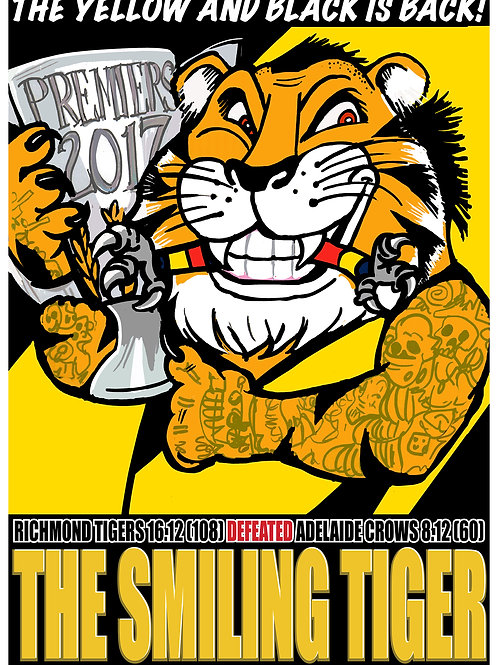 2017 Richmond Tigers Grand Final Victory poster by OZ