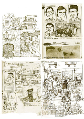 Spain Sketchbook 2009 - Art by OZ